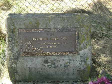 UNKNOWN, BABY GIRL - White County, Arkansas | BABY GIRL UNKNOWN - Arkansas Gravestone Photos