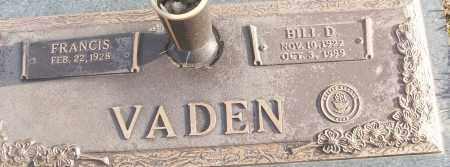 VADEN (VETERAN), BILL D - White County, Arkansas   BILL D VADEN (VETERAN) - Arkansas Gravestone Photos