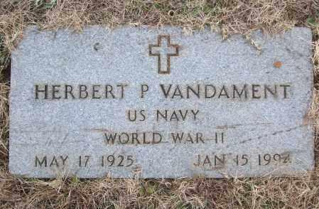 VANDAMENT (VETERAN WWII), HERBERT P - White County, Arkansas | HERBERT P VANDAMENT (VETERAN WWII) - Arkansas Gravestone Photos