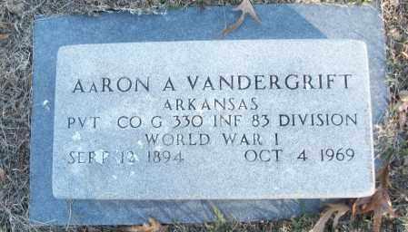 VANDERGRIFT (VETERAN WWI), AARON A - White County, Arkansas   AARON A VANDERGRIFT (VETERAN WWI) - Arkansas Gravestone Photos