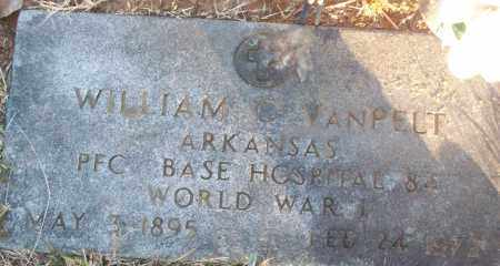 VANPELT (VETERAN WWI), WILLIAM C - White County, Arkansas | WILLIAM C VANPELT (VETERAN WWI) - Arkansas Gravestone Photos