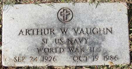VAUGHN (VETERAN WWII), ARTHUR W - White County, Arkansas | ARTHUR W VAUGHN (VETERAN WWII) - Arkansas Gravestone Photos