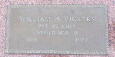 VICKERS (VETERAN WWII), WILLIAM H - White County, Arkansas | WILLIAM H VICKERS (VETERAN WWII) - Arkansas Gravestone Photos