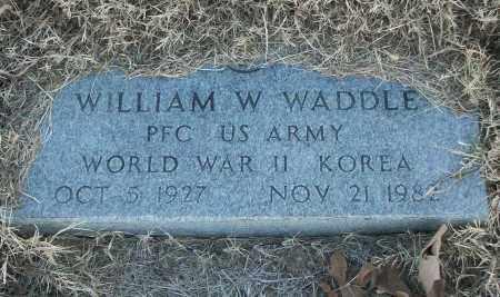 WADDLE (VETERAN 2 WARS), WILLIAM W - White County, Arkansas | WILLIAM W WADDLE (VETERAN 2 WARS) - Arkansas Gravestone Photos