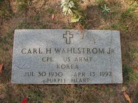 WAHLSTROM, JR. (VETERAN KOR), CARL H - White County, Arkansas | CARL H WAHLSTROM, JR. (VETERAN KOR) - Arkansas Gravestone Photos