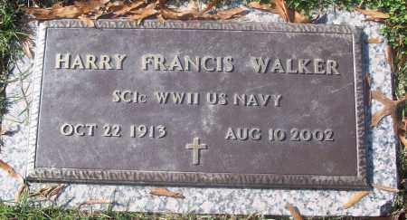 WALKER  (VETERAN WWII), HARRY FRANCIS - White County, Arkansas | HARRY FRANCIS WALKER  (VETERAN WWII) - Arkansas Gravestone Photos