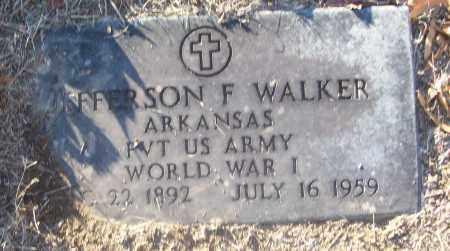 WALKER (VETERAN WWI), JEFFERSON F - White County, Arkansas | JEFFERSON F WALKER (VETERAN WWI) - Arkansas Gravestone Photos