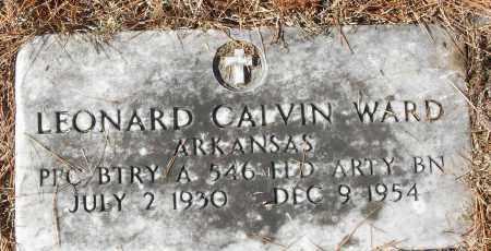 WARD (VETERAN), LEONARD CALVIN - White County, Arkansas | LEONARD CALVIN WARD (VETERAN) - Arkansas Gravestone Photos