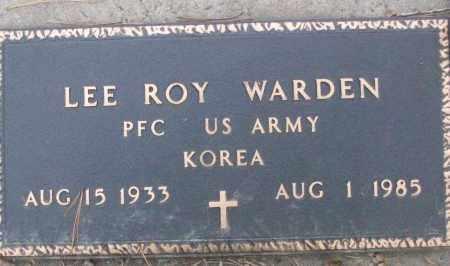 WARDEN (VETERAN KOR), LEE ROY - White County, Arkansas   LEE ROY WARDEN (VETERAN KOR) - Arkansas Gravestone Photos