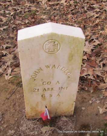 WARDLOW (VETERAN CSA), JOHN - White County, Arkansas | JOHN WARDLOW (VETERAN CSA) - Arkansas Gravestone Photos