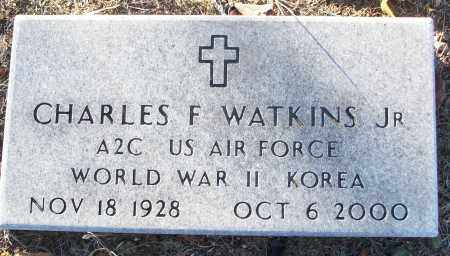 WATKINS, JR (VETERAN 2 WARS), CHARLES F - White County, Arkansas | CHARLES F WATKINS, JR (VETERAN 2 WARS) - Arkansas Gravestone Photos