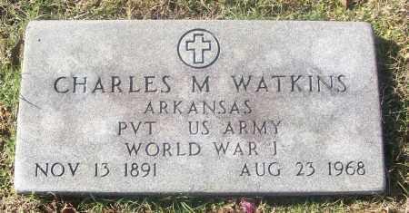 WATKINS  (VETERAN WWI), CHARLES M - White County, Arkansas | CHARLES M WATKINS  (VETERAN WWI) - Arkansas Gravestone Photos