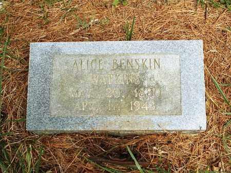 WATKINS, ALICE - White County, Arkansas | ALICE WATKINS - Arkansas Gravestone Photos