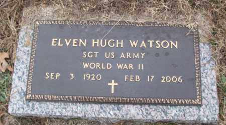 WATSON (VETERAN WWII), ELVEN HUGH - White County, Arkansas | ELVEN HUGH WATSON (VETERAN WWII) - Arkansas Gravestone Photos