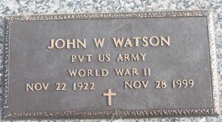 WATSON (VETERAN WWII), JOHN W - White County, Arkansas   JOHN W WATSON (VETERAN WWII) - Arkansas Gravestone Photos