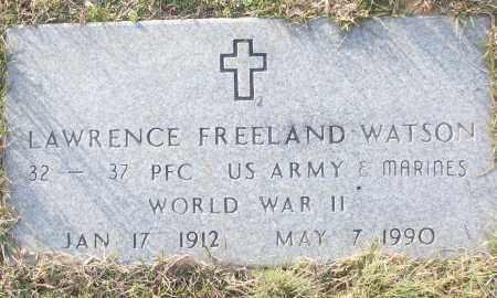 WATSON (VETERAN WWII), LAWRENCE FREELAND - White County, Arkansas | LAWRENCE FREELAND WATSON (VETERAN WWII) - Arkansas Gravestone Photos