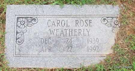 WEATHERLY, CAROL ROSE - White County, Arkansas   CAROL ROSE WEATHERLY - Arkansas Gravestone Photos
