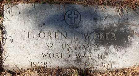 WEBER (VETERAN WWII), FLOREN T - White County, Arkansas | FLOREN T WEBER (VETERAN WWII) - Arkansas Gravestone Photos