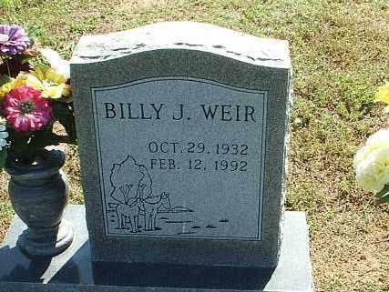 WEIR, BILLY J. - White County, Arkansas   BILLY J. WEIR - Arkansas Gravestone Photos