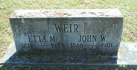 WEIR, ETTA M - White County, Arkansas   ETTA M WEIR - Arkansas Gravestone Photos