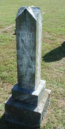 WEIR, MARTHA - White County, Arkansas   MARTHA WEIR - Arkansas Gravestone Photos