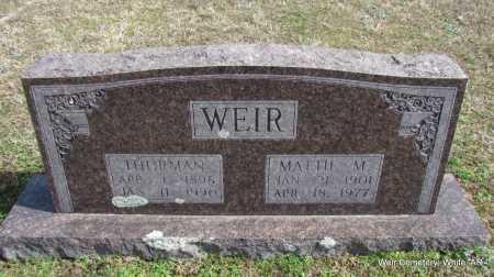 WEIR, THRUMAN - White County, Arkansas | THRUMAN WEIR - Arkansas Gravestone Photos