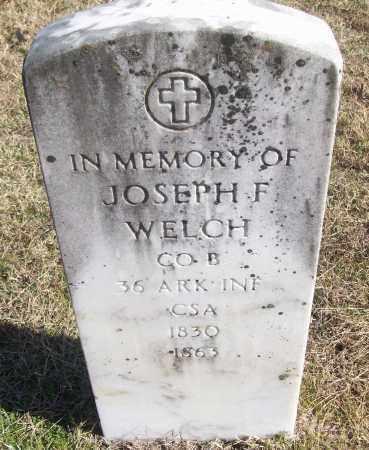 WELCH  (VETERAN CSA), JOSEPH F - White County, Arkansas   JOSEPH F WELCH  (VETERAN CSA) - Arkansas Gravestone Photos