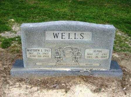 WILCOX WELLS, ALPHA - White County, Arkansas | ALPHA WILCOX WELLS - Arkansas Gravestone Photos