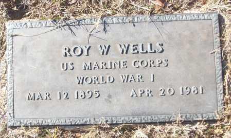 WELLS (VETERAN WWI), ROY W - White County, Arkansas | ROY W WELLS (VETERAN WWI) - Arkansas Gravestone Photos
