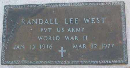 WEST (VETERAN WWII), RANDALL LEE - White County, Arkansas | RANDALL LEE WEST (VETERAN WWII) - Arkansas Gravestone Photos