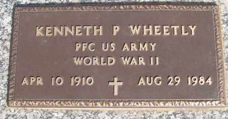 WHEETLY (VETERAN WWII), KENNETH P - White County, Arkansas   KENNETH P WHEETLY (VETERAN WWII) - Arkansas Gravestone Photos