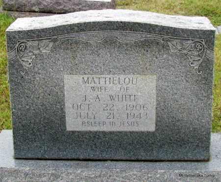 WHITE, MATTIE LOU - White County, Arkansas | MATTIE LOU WHITE - Arkansas Gravestone Photos