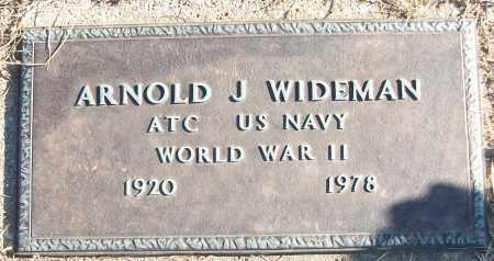 WIDEMAN (VETERAN WWII), ARNOLD J - White County, Arkansas | ARNOLD J WIDEMAN (VETERAN WWII) - Arkansas Gravestone Photos