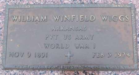 WIGGS (VETERAN WWI), WILLIAM WINFIELD - White County, Arkansas | WILLIAM WINFIELD WIGGS (VETERAN WWI) - Arkansas Gravestone Photos