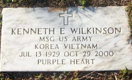 WILKINSON (VETERAN 2 WARS), KENNETH E - White County, Arkansas | KENNETH E WILKINSON (VETERAN 2 WARS) - Arkansas Gravestone Photos