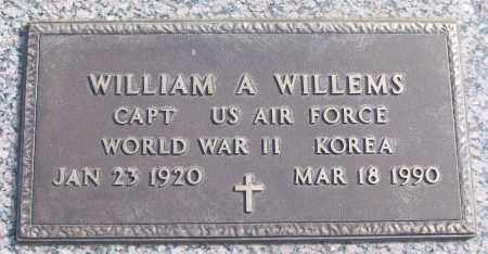 WILLEMS (VETERAN 2 WARS), WILLIAM A - White County, Arkansas | WILLIAM A WILLEMS (VETERAN 2 WARS) - Arkansas Gravestone Photos