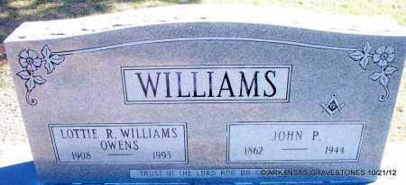 WILLIAMS, JOHN P - White County, Arkansas | JOHN P WILLIAMS - Arkansas Gravestone Photos