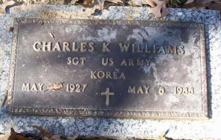 WILLIAMS (VETERAN KOR), CHARLES K - White County, Arkansas | CHARLES K WILLIAMS (VETERAN KOR) - Arkansas Gravestone Photos