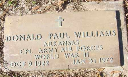WILLIAMS (VETERAN WWII), DONALD PAUL - White County, Arkansas | DONALD PAUL WILLIAMS (VETERAN WWII) - Arkansas Gravestone Photos