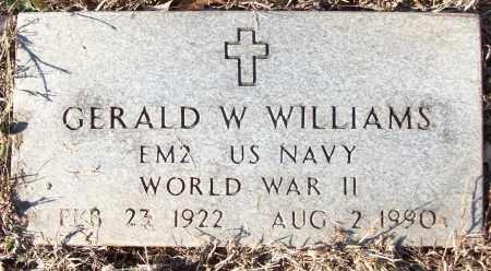 WILLIAMS (VETERAN WWII), GERALD W - White County, Arkansas | GERALD W WILLIAMS (VETERAN WWII) - Arkansas Gravestone Photos