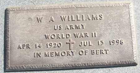 WILLIAMS (VETERAN WWII), W A - White County, Arkansas | W A WILLIAMS (VETERAN WWII) - Arkansas Gravestone Photos