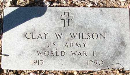 WILSON (VETERAN WWII), CLAY W - White County, Arkansas | CLAY W WILSON (VETERAN WWII) - Arkansas Gravestone Photos