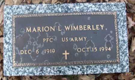 WIMBERLEY  (VETERAN), MARION L - White County, Arkansas   MARION L WIMBERLEY  (VETERAN) - Arkansas Gravestone Photos