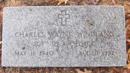 WINDLAND (VETERAN), CHARLES WAYNE - White County, Arkansas   CHARLES WAYNE WINDLAND (VETERAN) - Arkansas Gravestone Photos