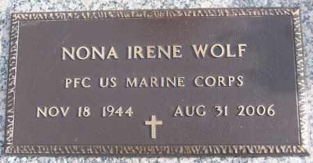 WOLF (VETERAN), NORA IRENE - White County, Arkansas   NORA IRENE WOLF (VETERAN) - Arkansas Gravestone Photos