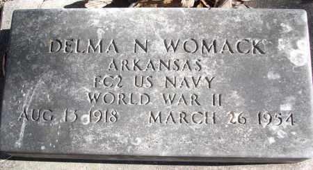 WOMACK (VETERAN WWII), DELMA N - White County, Arkansas | DELMA N WOMACK (VETERAN WWII) - Arkansas Gravestone Photos