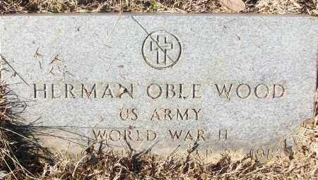 WOOD (VETERAN WWII), HERMAN OBLE - White County, Arkansas | HERMAN OBLE WOOD (VETERAN WWII) - Arkansas Gravestone Photos