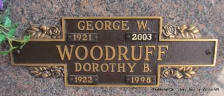 WOODRUFF  (VETERAN), GEORGE W - White County, Arkansas   GEORGE W WOODRUFF  (VETERAN) - Arkansas Gravestone Photos