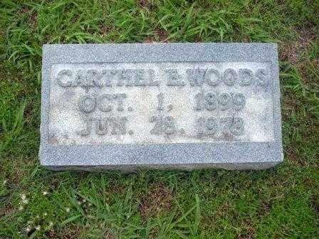 """WOODS, CARTHEL """"BILLIE"""" E. - White County, Arkansas   CARTHEL """"BILLIE"""" E. WOODS - Arkansas Gravestone Photos"""
