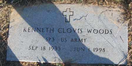 WOODS (VETERAN), KENNETH CLOVIS - White County, Arkansas | KENNETH CLOVIS WOODS (VETERAN) - Arkansas Gravestone Photos